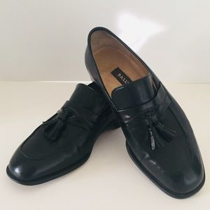 Bally Calfskin Tasseled Loafers Shoes 9 EEE